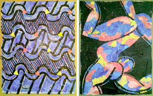 Colors and Waves Diptych